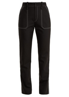 Chloé High-rise contrasting stitch-detailed trousers