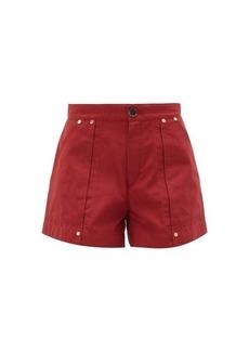 Chloé High-rise cotton-poplin shorts
