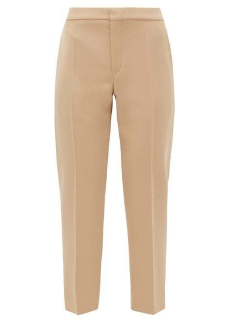 Chloé High-rise cropped wool-blend trousers