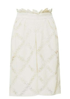 Chloé High-rise lace-trimmed skirt