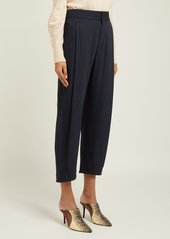 Chloé High-rise pinstriped twill trousers