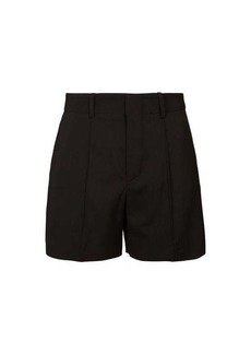 Chloé High-rise tailored crepe shorts