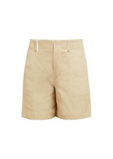 Chloé High-rise twill-print shorts