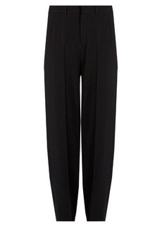 Chloé High-rise wide-leg cady trousers