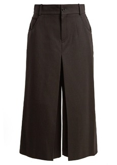 Chloé High-rise wide-leg wool-blend cropped trousers
