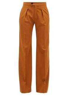 Chloé High-rise wide-leg wool-blend trousers