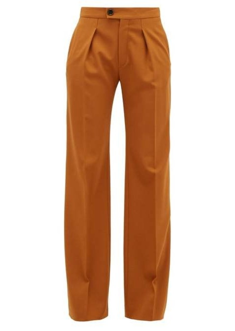 Chloé High-rise wide-leg wool-blend trousers