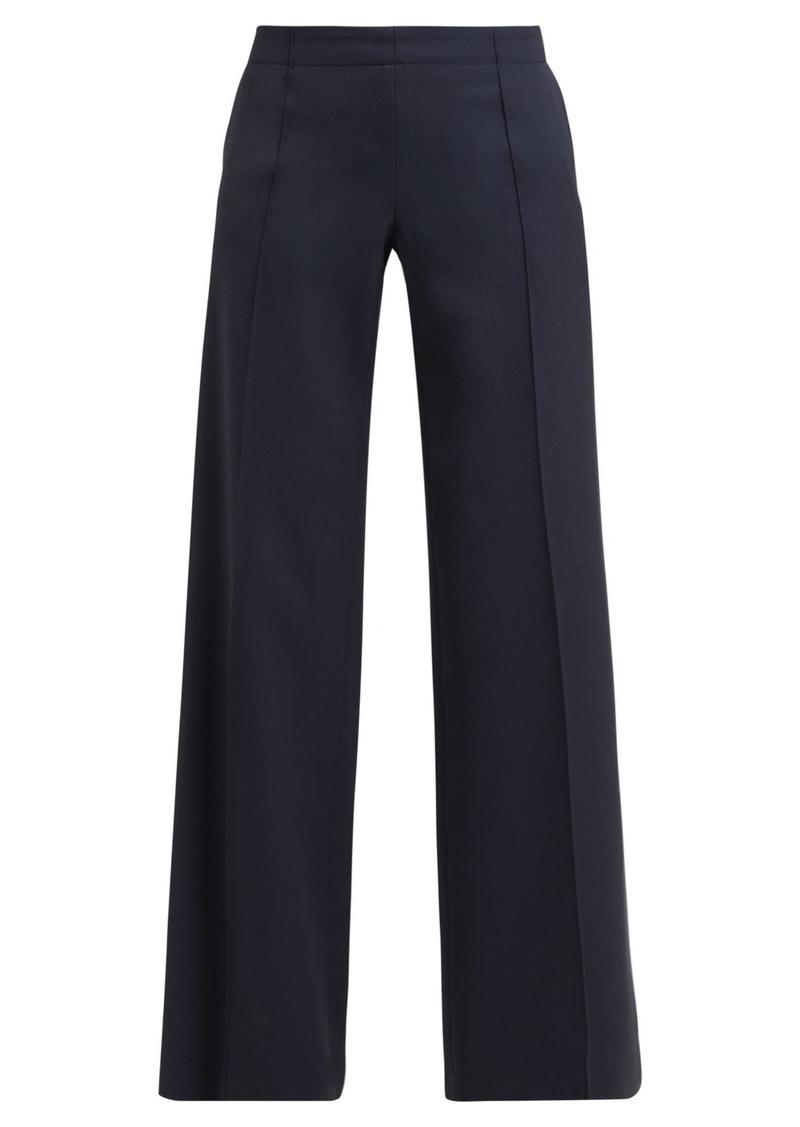 Chloé High-rise wide-leg wool trousers