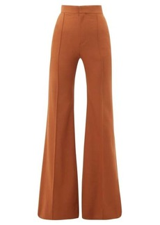 Chloé High-rise wool-blend flared trousers