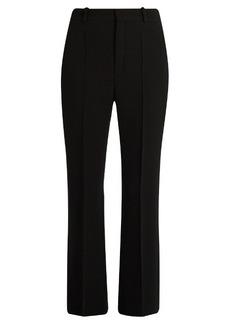 Chloé High-rise wool-crepe kick-flare trousers