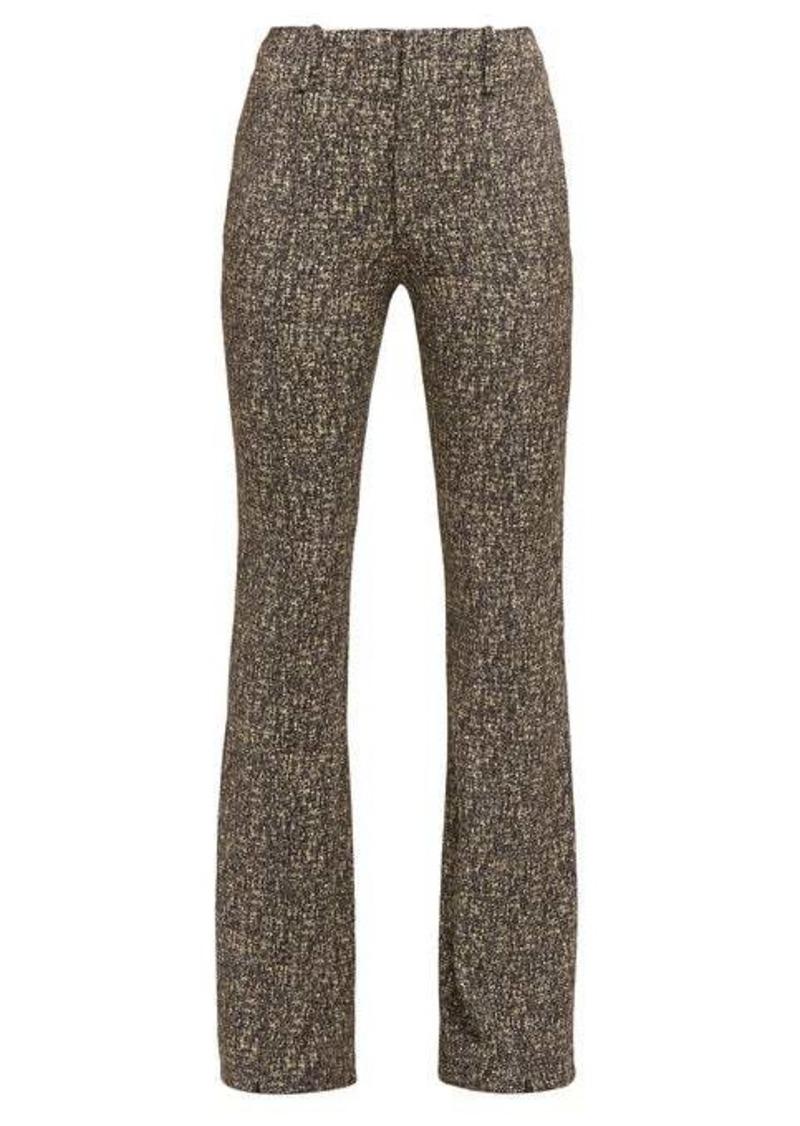 Chloé High-rise zipped-cuff tweed trousers