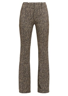Chloé High-rise zipped-cuff tweed trousers