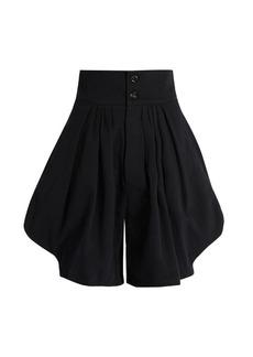 Chloé High-waist cotton-blend shorts