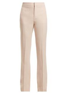 Chloé High-waist crepe trousers