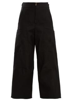 Chloé High-waist wide-leg cotton-blend trousers