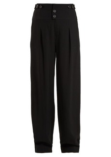 Chloé High-waist wide-leg crepe trousers