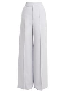 Chloé High-waist wide-leg crepe trousers