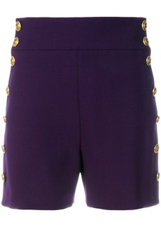 Chloé high-waisted buttoned shorts - Pink & Purple