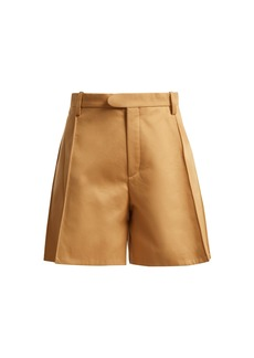 Chloé High-waisted cotton shorts