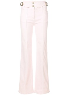 Chloé high-waisted flared trousers - Pink & Purple