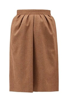 Chloé Houndstooth wool skirt