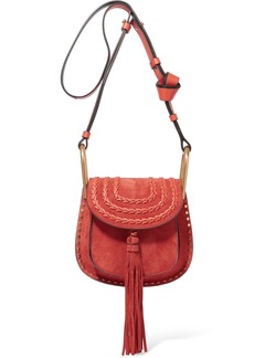 Chloé Hudson mini whipstitched suede shoulder bag