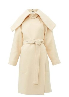 Chloé Iconic shawl-lapel belted wool-blend coat
