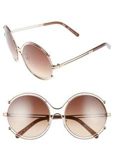 Chloé 'Isidora' 59mm Round Sunglasses