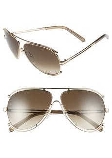 Chloé 'Isidora' 61mm Aviator Sunglasses