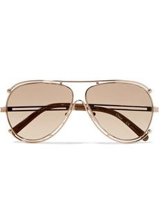 Chloé Isidora aviator-style gold-tone sunglasses