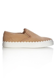 Chloé Ivy low-top calf-hair slip-on trainers