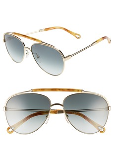 Chloé Jackie 59mm Aviator Sunglasses