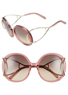 Chloé 'Jackson' 56mm Round Sunglasses