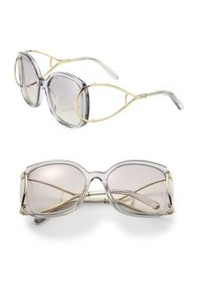 Chloé Jackson 60MM Oversized Square Metal Sunglasses