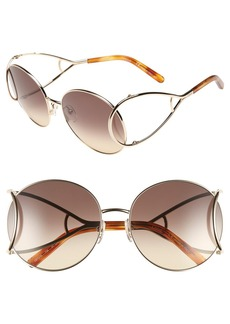 Chloé 'Jackson' 60mm Round Sunglasses