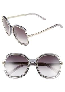 Chloé 'Jayme' 54mm Square Sunglasses