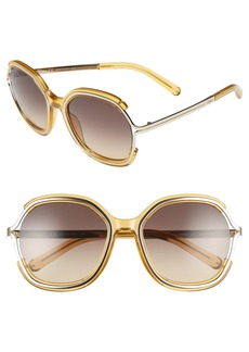 Chloé 'Jayme' 54mm Square Sunglasses