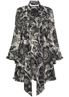 Chloé kaleidoscope-print bell-sleeve dress - Black