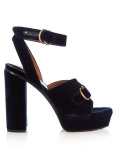 Chloé Kingsley velvet sandals