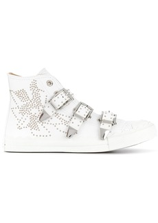 Chloé Kyle buckled hi-top sneakers - White