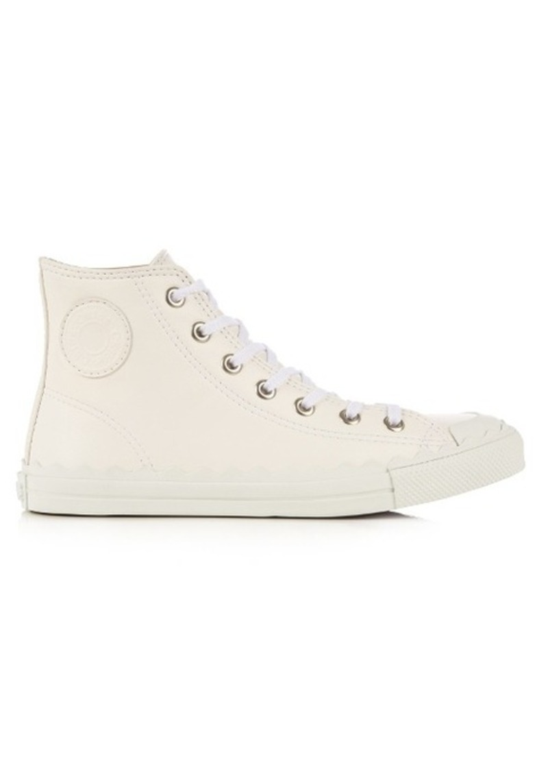 Chloé Kyle high-top leather trainers