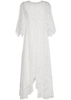 Chloé lace asymmetric maxi dress - White
