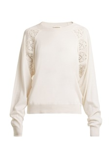 Chloé Lace-insert wool sweater