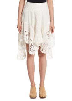 Chloé Lace Inset Skirt