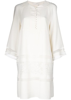 Chloé lace panel mini dress - Nude & Neutrals