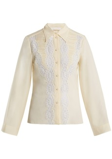 Chloé Lace silk blouse