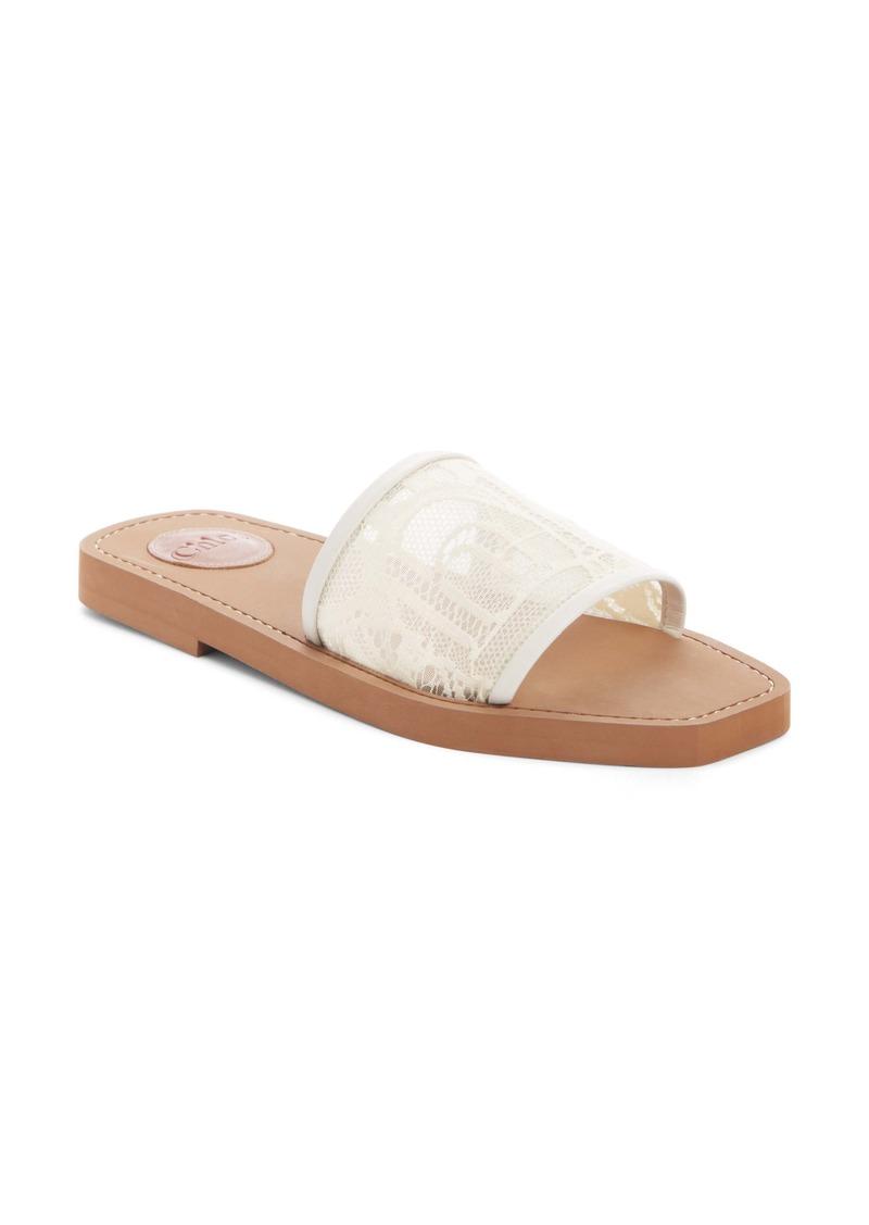 Chloé Lace Slide Sandal (Women)
