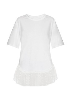 Chloé Lace-trimmed short-sleeved T-shirt