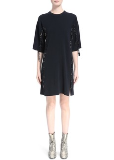 Chloé Laced Grommet Wool Dress