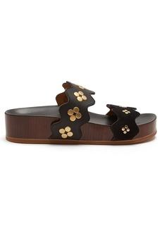 Chloé Lauren double-strap leather flatform sandals